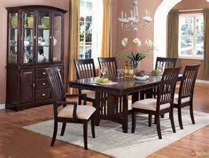 Casual Dining Room Sets by Monaco Cappuccino Finish Casual Dining Room Set