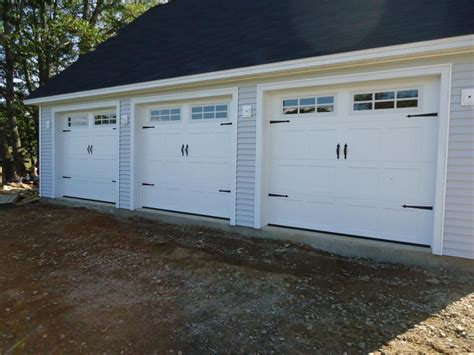 carriage house doors installed in woolwich m e penbay