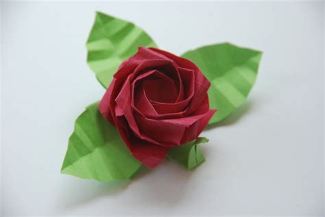 Origami Roses With Stems - origami kawasaki by lisadeng on deviantart