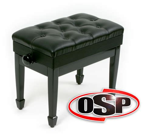 piano artist bench artist piano bench black leather