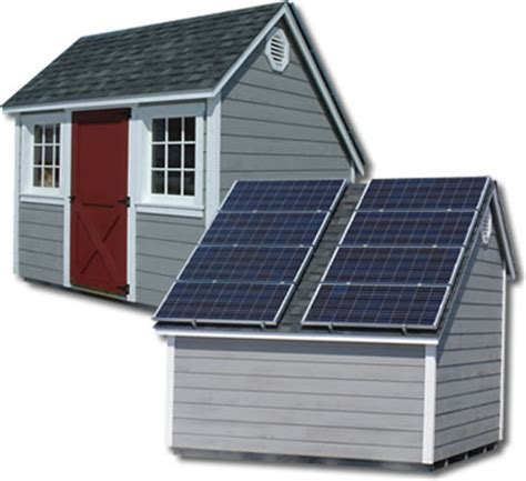 Solar Panel For Shed by Storage Sheds Lancaster County Barns Green Solar Sheds