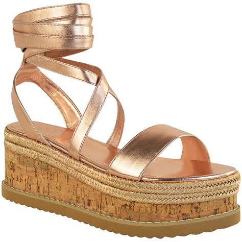 tie up sandals womens flat wedge espadrille lace tie up sandals