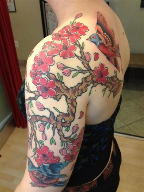 cute cherry blossom tattoo design ideas hative