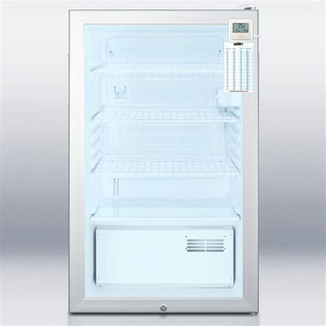 Refrigerator With Clear Front Door Glass Door Nsf 7 Refrigerator Nsf 7 Glass Door Refrigerator Summit Accucold Scr450l7