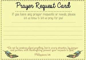 prayer request template prayer request card ideas and prayer on
