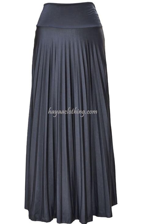 black pleated maxi skirt modest skirt