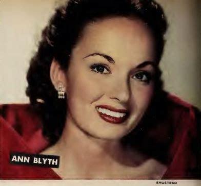 actress singer list ann blyth actress singer star ann blyth on most
