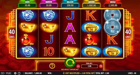 reel riches fortune age slot machine  wms casino slots