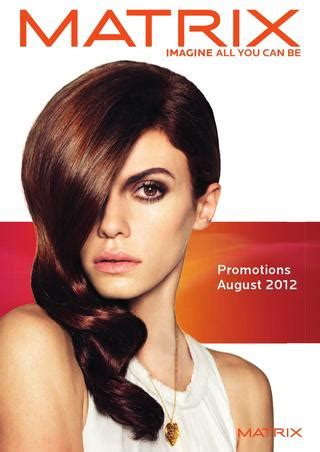 Harga Matrix Hair Color matrix promotions august 2012 by alan howard ltd issuu