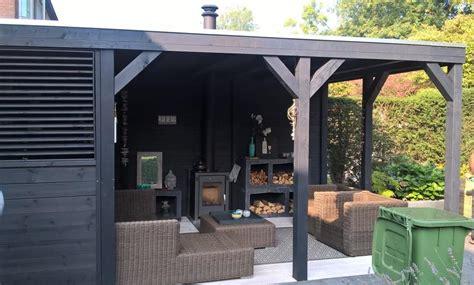 veranda zwart hout losstaande houten veranda in tuin plaatsen 4 00 x 3 75 2