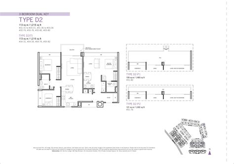 floor plan key 3 bedroom dual key flamingo valley