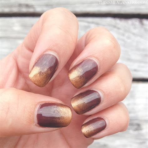 Artistic Colour Gloss L by Chocolate And Gold Dust Ombre Nail This Is Meagan Kerr