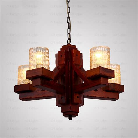 rustic wood chandelier wooden wrought iron and glass rustic chandeliers