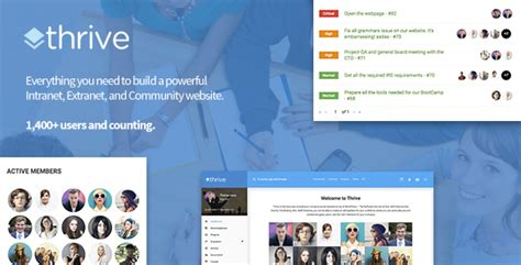 Thrive Intranet Community Wordpress Theme By Dunhakdis Themeforest Thrive Themes Templates