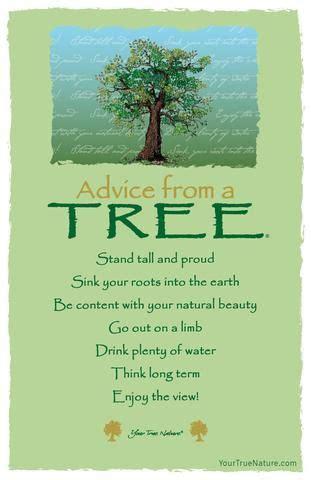 advice   tree   poem frameable art postcard