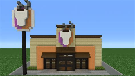how to build a shop minecraft tutorial how to make a dunkin donuts coffee
