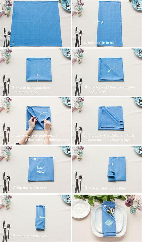 7 basic table napkin folding table setting tips 3 basic napkin folds inspiration