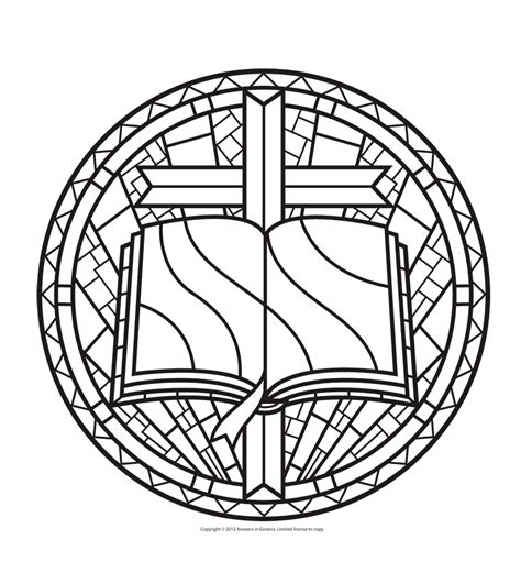 Free Coloring Pages Of Stained Glass Window Stained Glass Coloring Pages