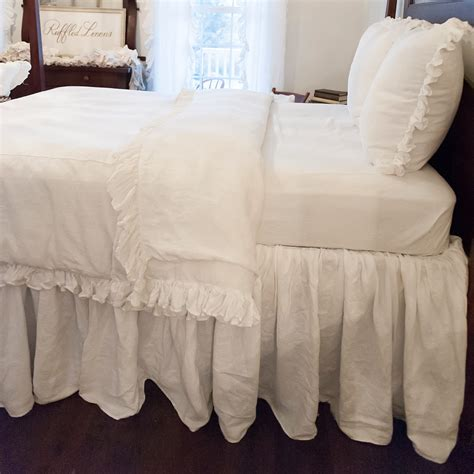 full bed skirt full size ruffled linen bed skirt dust ruffle