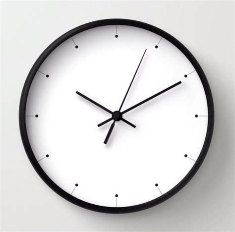 simple wall clock simple wall clock black and white clock minimalist design