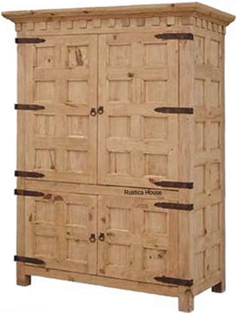 Mexican Pine Armoire by Mexican Large Armoire