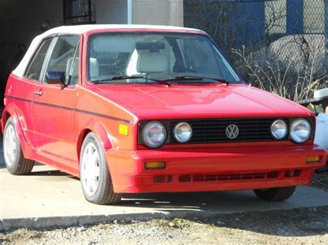 volkswagen rabbit 1990 buy used 1990 volkswagen cabriolet base convertible 2 door
