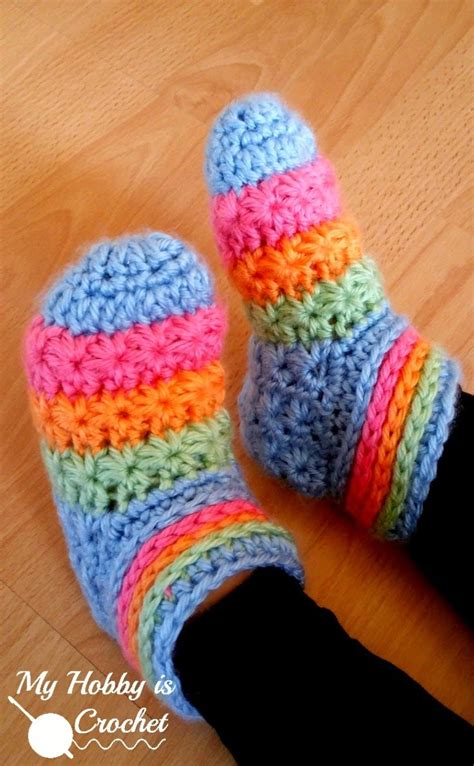 crochet slipper boots tutorial starlight toddler slippers free crochet slippers