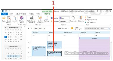 membuat undangan meeting di outlook 2010 cara mengedit meeting dan melihat respon dari peserta