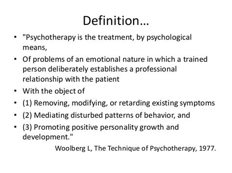 therapy definition psychotherapy