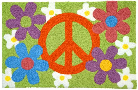Peace Rug by Peace Sign Rug Peace Symbol Rug Indoor Outdoor Peace Rug