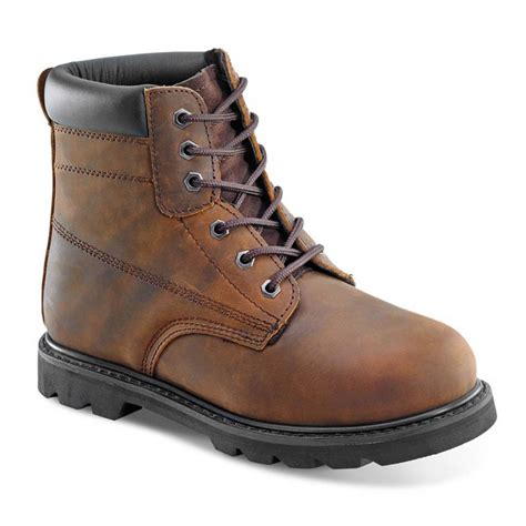 mens traditional goodyear welted brown leather sbp safety