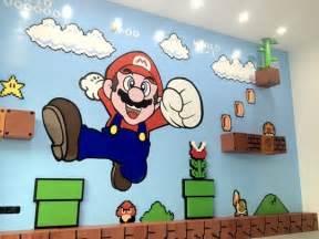 super mario wall mural team game room on pinterest super mario room super
