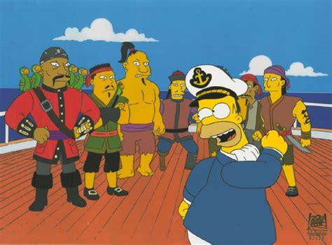 The Simpsons 01 Raglan sports monkey knife fights