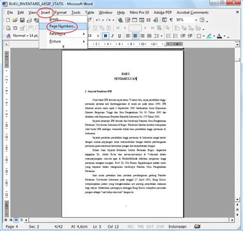 membuat nomor halaman beda cara membuat nomor urut halaman beda format di ms word
