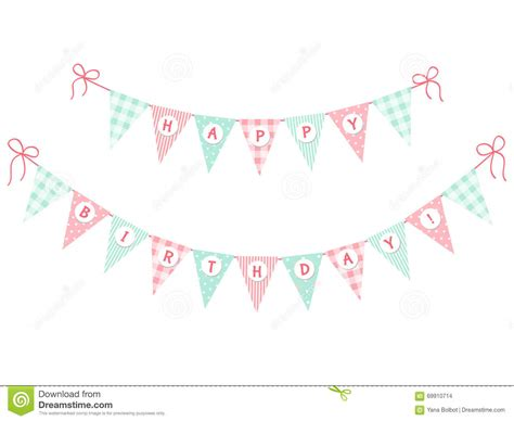 Bunting Flag Happy Annivesary bunting flags happy birthday stock illustration image 69910714