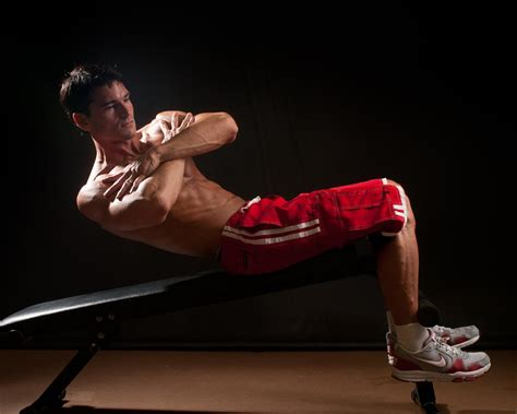 Bench Abs by Decline Bench Abs Workout