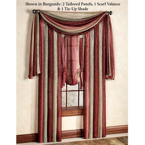 scarf drapes ombre semi sheer scarf valance and window treatments