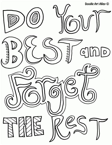 doodle alley quotes coloring pages all quotes coloring pages doodle alley coloring
