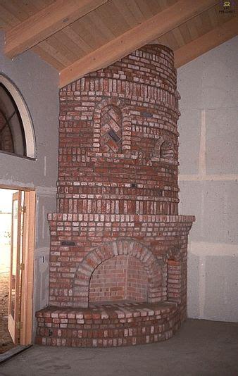 large brick curved corner fireplace fireplace facing