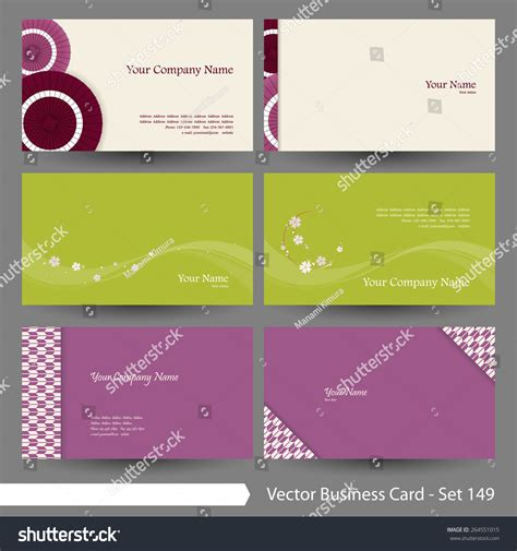 japanese business card design template vector business card template set japanese stock vector