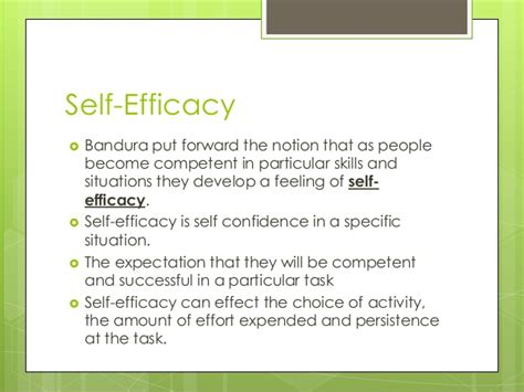 L Efficacy by Self Confidence And Self Efficacy 2013