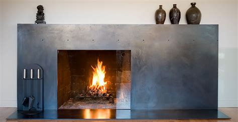 Metal Surround For Fireplace by Martin Residence Seattle