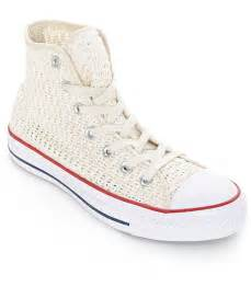 converse crochet sneakers converse chuck all hi parchment crochet shoes