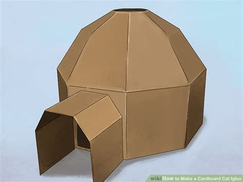 How To Make Igloo With Paper - how to make a cardboard cat igloo 13 steps with pictures