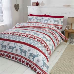 Linen Sets With Duvet Covers Brushed Scandi Single Red