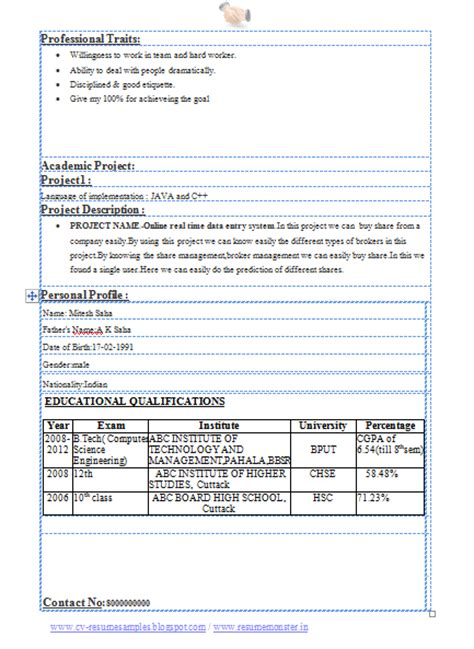 resume sles for engineering students 10000 cv and resume sles with free