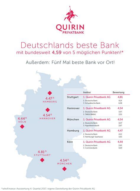 quirin bank hamburg deutschlands beste bank pressemitteilung quirin