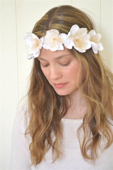 White Budroses Flower Crown 1 cyber monday sale gold bridal wreath white crown white flower tiara petal alley gold