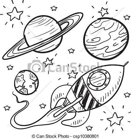 doodle science login vector clipart of science fiction objects sketch doodle