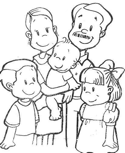 imagenes sobre la familia para dibujar lindos dibujos de familia para colorear y descargar